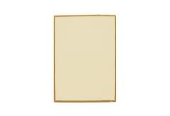 【A4対応】洋風メニュー用紙(両面にゴールドのライン入り)