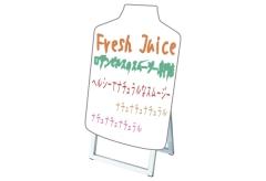 【ボトル型・ショートサイズ】マーカーボードスタンド看板
