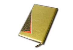 【B5/4P】高級和紙メニュー 外カバー付き(ひも綴じ)